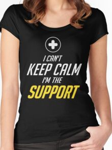 SUPPORT Women's Fitted Scoop T-Shirt