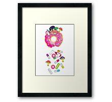 Piñata Pink Molly Donut Framed Print