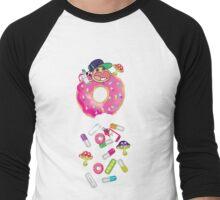 Piñata Pink Molly Donut Men's Baseball ¾ T-Shirt