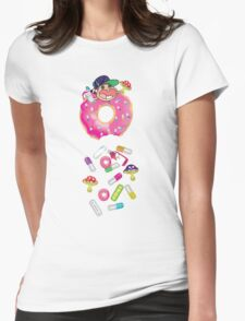 Piñata Pink Molly Donut Womens Fitted T-Shirt