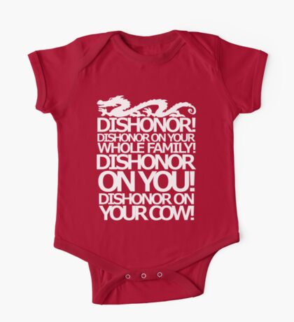 Dishonor on your cow. [US Spelling]  One Piece - Short Sleeve