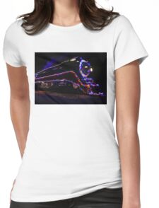 SP 4449 Steam Train With Christmas Lights Womens Fitted T-Shirt