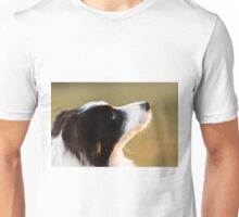 expression of the eyes of a border collie Unisex T-Shirt