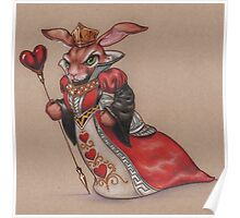 Queen of Hearts Rabbit Poster