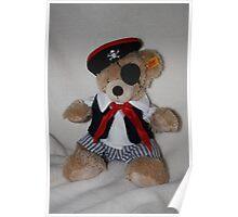 Teddy Bear Pirate Poster