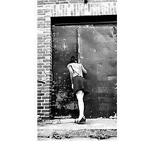retro photo woman Photographic Print