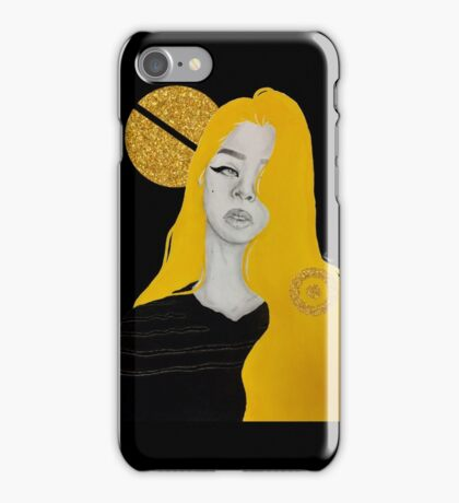 Yellow Glitter iPhone Case/Skin