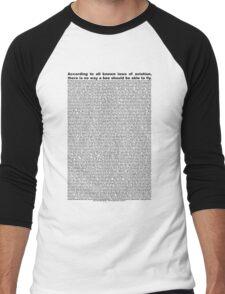 bee movie script  Men's Baseball ¾ T-Shirt