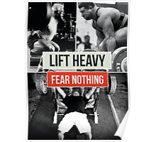 LIFT HEAVY, FEAR NOTHING (Powerlifting) Poster