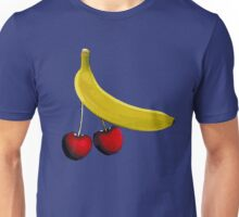 Funny banana and dangly cherries Unisex T-Shirt