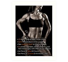 How To Lose Weight (Women's Fitness Infographic) Art Print