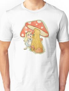 Alice and the Giant Mushrooms Unisex T-Shirt