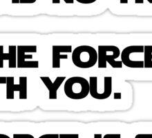 star wars quote set Sticker