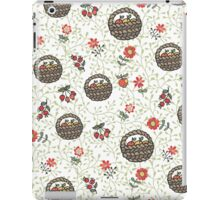 .Basket with apples,flowers,branches.Doodle  pattern iPad Case/Skin