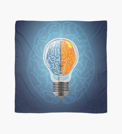 Symbol of idea with the brain shape left and right Scarf