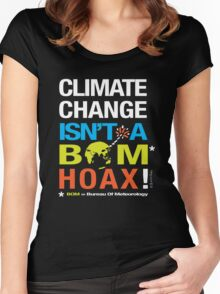 Climate Change Isn't A BOM Hoax  Women's Fitted Scoop T-Shirt