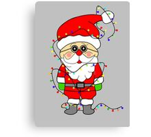 Silly Santa Canvas Print
