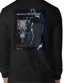 ink on very old paper negativ scan Long Sleeve T-Shirt