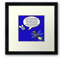 I Wish I was A Glow Worm! Framed Print