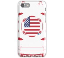 I Am An American Woman Heart Sleeve Fire In Soul T-Shirt iPhone Case/Skin