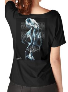 ink on very old paper negativ scan Women's Relaxed Fit T-Shirt
