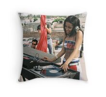 AALIYAH dj Throw Pillow