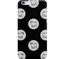 pug polka dot - grey iPhone Case/Skin