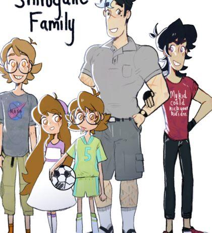 Voltron Family Print-Shirogane Family Sticker