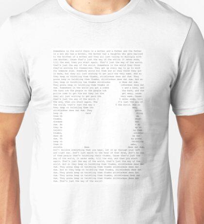 Thumbs by Sabrina Carpenter Text Art Unisex T-Shirt