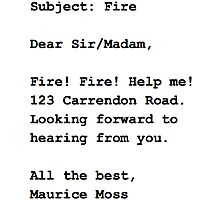 Fire Email - The IT Crowd Photographic Print