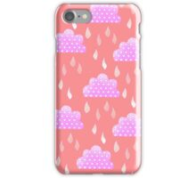 Rain Clouds (Pink) iPhone Case/Skin