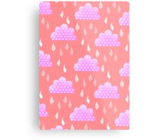Rain Clouds (Pink) Metal Print