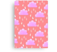 Rain Clouds (Pink) Canvas Print