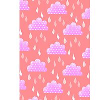 Rain Clouds (Pink) Photographic Print