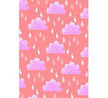 Rain Clouds (Pink) Photographic Print