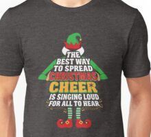 Awesome Elf Christmas Cheer Singing Loud Movie Quotes Unisex T-Shirt