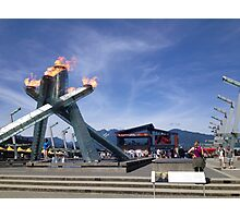 Vancouver Olympic Flame Photographic Print
