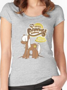 My Little Pawnee Women's Fitted Scoop T-Shirt