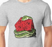 Dice Hugging Snake Unisex T-Shirt