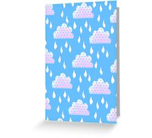Rain Clouds (Blue) Greeting Card