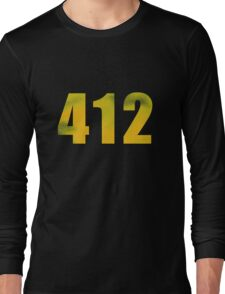 Vintage 412 (Pittsburgh Area Code) Long Sleeve T-Shirt