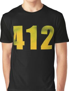 Vintage 412 (Pittsburgh Area Code) Graphic T-Shirt