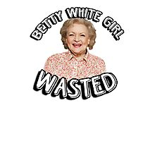 Betty White girl wasted Photographic Print