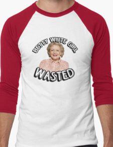 Betty White girl wasted Men's Baseball ¾ T-Shirt