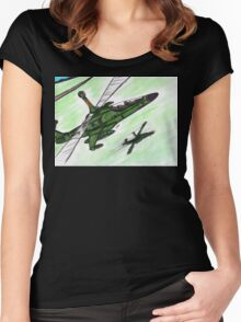 Sparrows to the Front Women's Fitted Scoop T-Shirt