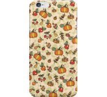 Autumn harvest fruit,pumpkin .Doodle  pattern iPhone Case/Skin