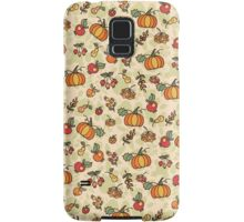 Autumn harvest fruit,pumpkin .Doodle  pattern Samsung Galaxy Case/Skin
