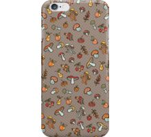 Autumn harvest pattern.Pear,apples,mushrooms iPhone Case/Skin