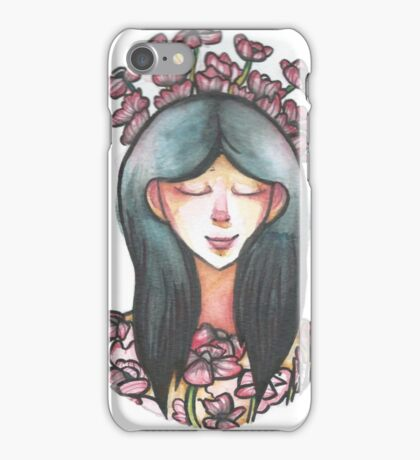Girl and her Poppies iPhone Case/Skin