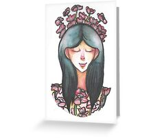 Girl and her Poppies Greeting Card